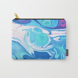 Pink Blue Marble 'Sarah' Carry-All Pouch
