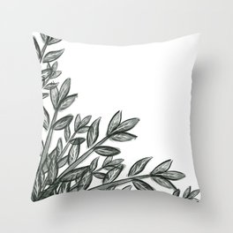 Greenery Bundles Throw Pillow