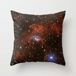 Bubble Nebula (vertical mode) Throw Pillow