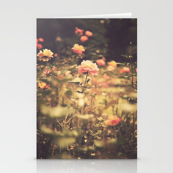 One Rose in a Magic Garden (Vintage Flower Photography) Stationery Cards