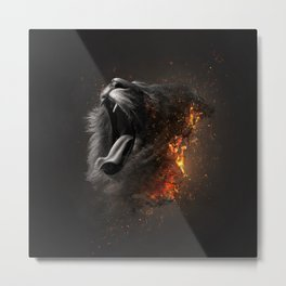 XTINCT x Lion Metal Print