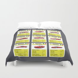 Ferrari Top Trumps Duvet Cover