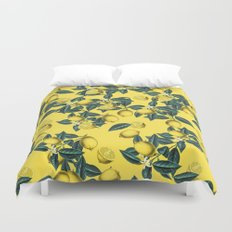 Lemon and Leaf Pattern III Duvet Cover