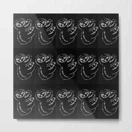 Black and white sloth, cute sloths Metal Print