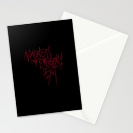 Madness Emergency Exit Stationery Cards