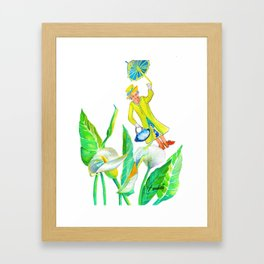 God save the Queen and the calla lilies Framed Art Print