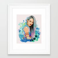 aquarius Framed Art Prints featuring Aquarius by Sara Eshak