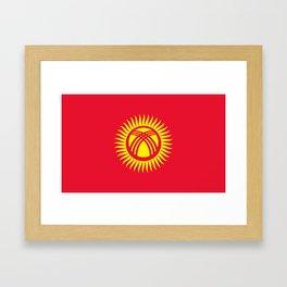 Kyrgyzstan Flag Framed Art Print