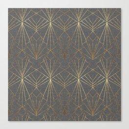 Art Deco in Gold & Grey Canvas Print