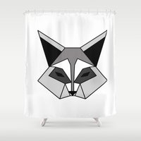 raccoon Shower Curtains featuring Raccoon by JessaDee`Designs