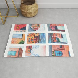 Small house collection painting Rug
