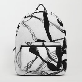 Abstract Black Strokes Backpack
