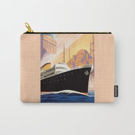 Venice Greece Istanbul shipping line retro vintage ad Carry-All Pouch