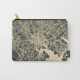 Baltimore map yellow Carry-All Pouch