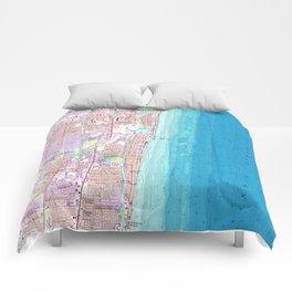 Vintage Map of Boca Raton Florida (1962) Comforters