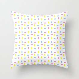 square and tartan 15 multicolor Throw Pillow