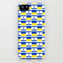 Mix of flag: Israel and Ukraine iPhone Case