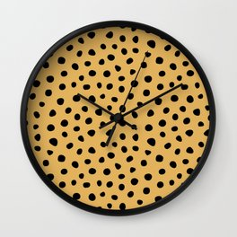 Spotted Animal Print Wall Clock