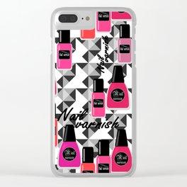 Nail Polish Clear iPhone Case