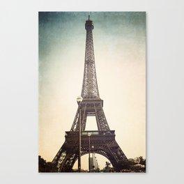 la tour eiffel en bleu Canvas Print