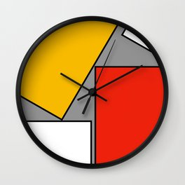 Leaning On You Abstract Wall Clock
