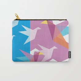 Pastel Paper Cranes Carry-All Pouch