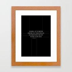look at earth Framed Art Print