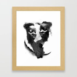BLACK LOVE Framed Art Print