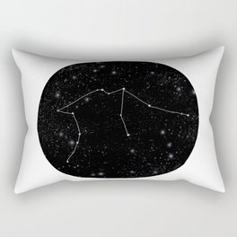 Aquarius constellation star sign zodiac black and white art gifts Rectangular Pillow