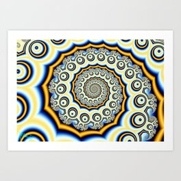 Spiral trig tree Art Print