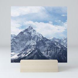 Snowy Mountain Peaks Mini Art Print