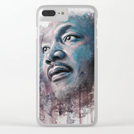 Martin Luther King J Clear iPhone Case