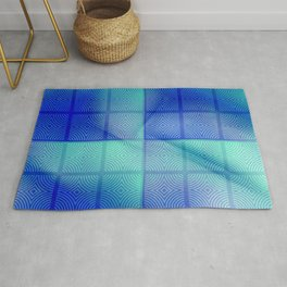 Blue shadows Rug