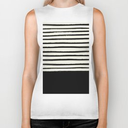 Black x Stripes Biker Tank