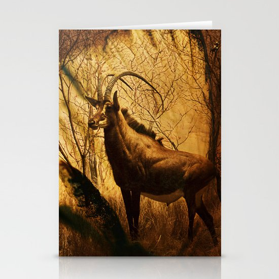 Diorama :: Antelope Stationery Cards
