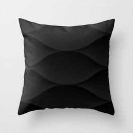 Shadows - Waves Small Black Throw Pillow