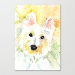 White Terrier Canvas Print