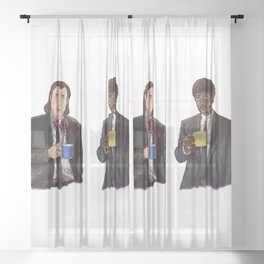 Pulp Fiction - Jimmy's Coffee Sheer Curtain