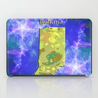 indiana iPad Cases featuring Indiana Map by Roger Wedegis