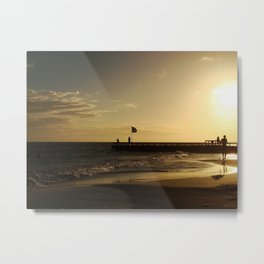 Golden Hour at the beach Metal Print
