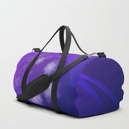 Flower Shapes On Folding Indigo Duffle Bag