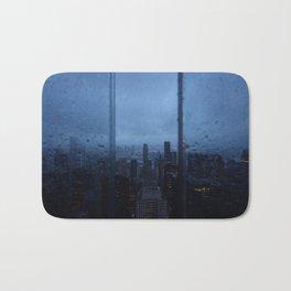 New York City Skyline on a Rainy Day Bath Mat