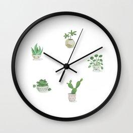 Little green fellows Wall Clock
