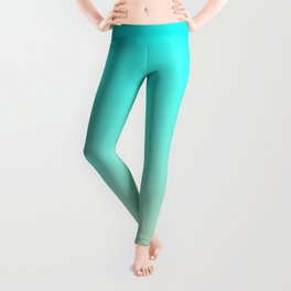 Aqua and Angelskin Tropical Paradise Island Maldives Beach Leggings