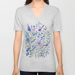 Wildflower Bouquet Unisex V-Neck