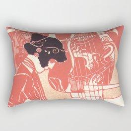 """Gustav Klimt """"Musik lithograph"""" Rectangular Pillow"""