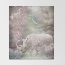 The Most Beautiful Have Known Defeat, Suffering, Struggle... (Rhino Dreams)  Throw Blanket
