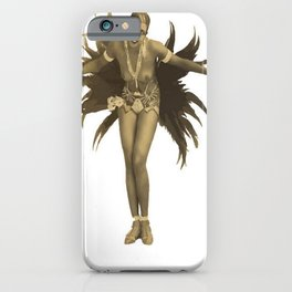 Josephine Baker Feather Costume iPhone Case