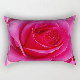 LARGE FUCHSIA PINK ROSE PATTERN ART Rectangular Pillow