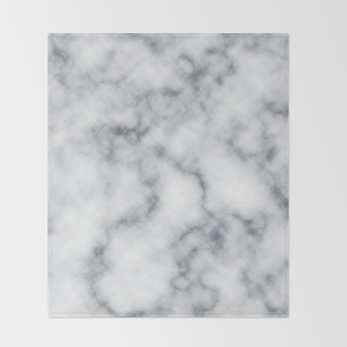 Marble Cloud Throw Blanket